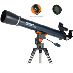 Celestron AstroMaster LT 60 AZ Refractor with Smartphone Adaptor and Moon Filter