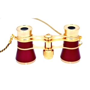 CARMEN 3x25 mm Burgundy and Gold Opera Glasses