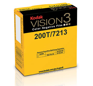 Kodak VISION3 200T Color Negative Super 8 Film 7213