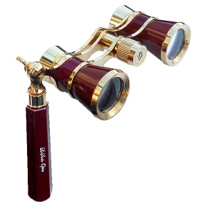 IOLANTA 3x25 mm Opera Glasses Burgundy & Gold
