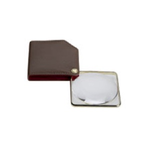 Large Folding Pocket Magnifier Brown
