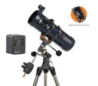 Celestron AstroMaster 114 EQ-MD Telescope with Motor Drive and Smartphone Adaptor