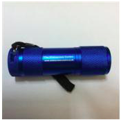 Red Light LED Torch (Blue Body)