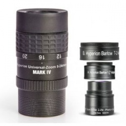 Baader MARK IV Hyperion Zoom 8-24 mm eyepiece & Hyperion Zoom Barlow lens 2.25x Bundle