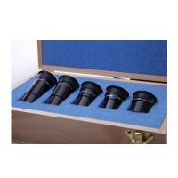 VERNONSCOPE BOXED SET OF FIVE - 1.25'' PARFOCAL BRANDON OCULARS (BIRCHWOOD CASE)
