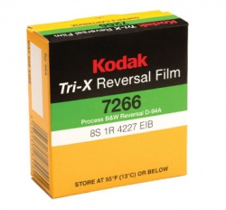 Kodak TRI-X Black & White Reversal Super 8 Film 7266