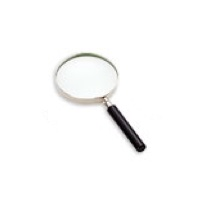 Classic Hand Magnifier 2.3x, Glass, 75mm/ 3''
