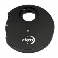 ZWO 5-position Manual Filter Wheel with 1.25'' Eyepiece Holder & Brass Compression Ring