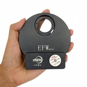 ZWO EFWmini 5-position Filter Wheel for 1.25'' and 31mm Unmounted Filters