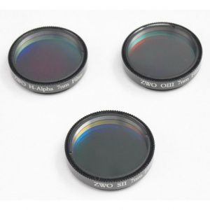 ZWO H-alpha SII OIII 7nm Narrowband Filter Set 1.25''